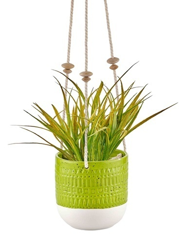 The Mia Çiçeklik - 13 Cm Yeşil Yeşil